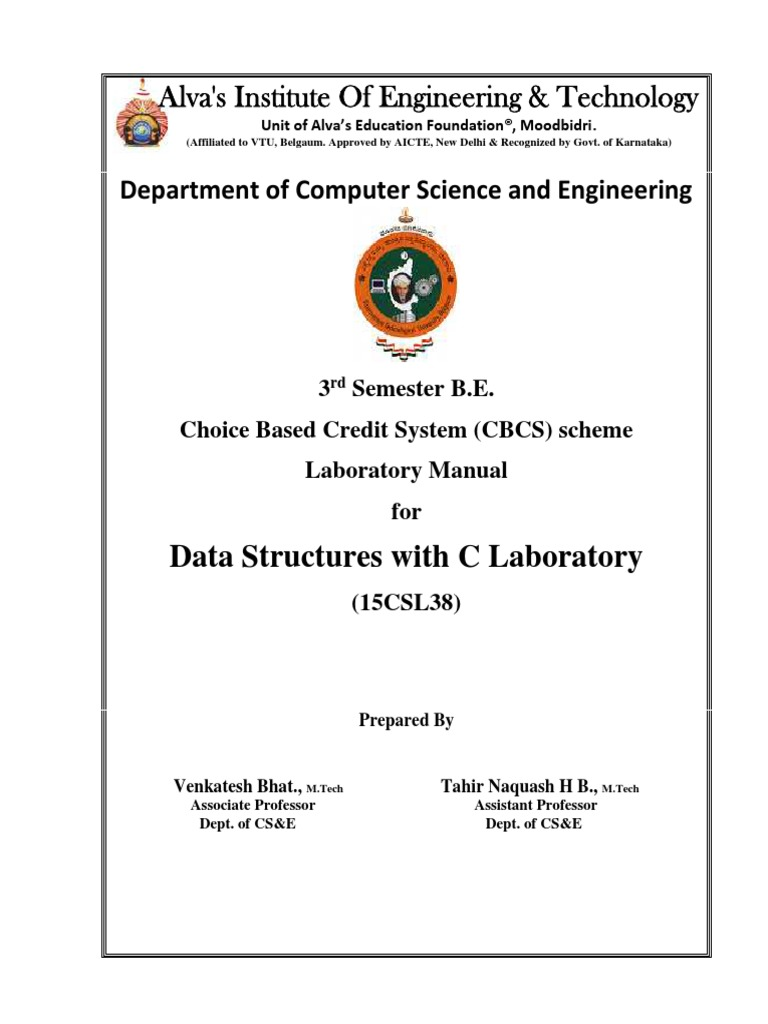 Data Structures Lab Manual | Queue (Abstract Data Type) | C (Programming  Language)