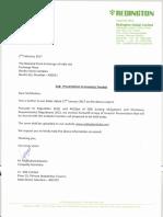Presentation to Investor / Analyst [Company Update]