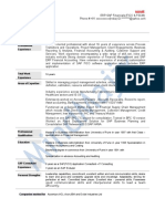 SAP FSCM Sample Resume 3