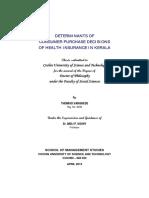 DETERMINANTS of Insurance Purchase in Kerela
