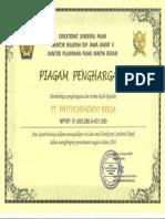 Penghargaan dari Drjen Pajak 2017