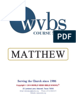 Matthew's Gospel Notes