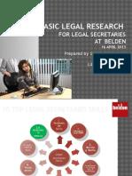 Basic Legal Research for Secretaries