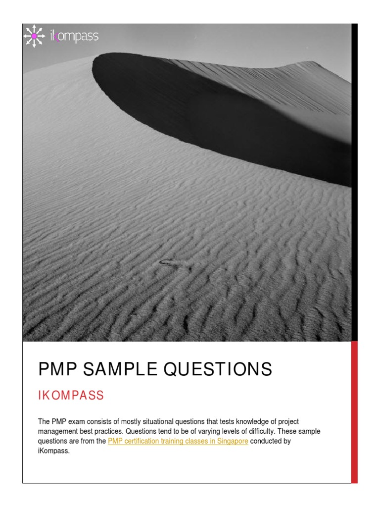 Free Pmp Exam Sample Questions Project Management Test Assessment