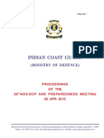 20150409 PROCEEDINGS OF THE 20th NOS-DCP AND PREPAREDNESS MEETING 09 APR 2015