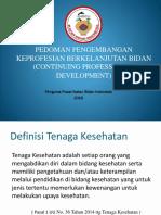 Pedoman CPD Bidan Dalam Rangka Perpanjangan STR - 16 Agustus 2016