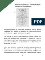 As Origens Históricas Dos Arcana Arcanorum (Misérios Dos Mistérios) 2