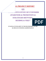 1compartive Study of Customer Awareness & Promotional Strategies Between