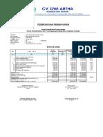 Invoice CV. Dwi Artha