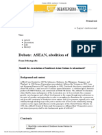 Debate_ ASEAN, Abolition of - Debatepedia
