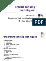 01 Fingerprint Sensing Techniques