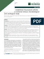 Periodontitis in established rheumatoid arthritis patients