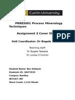 Assignment 2 ProcessMineralogy