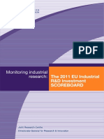 The 2011 EU Industrial R&D Investment Scoreboard