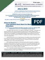 ValuEngine Weekly Newsletter July 2, 2010