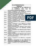 ICD 10 PERINATOLOGI