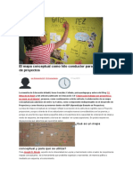 El Mapa Conceptual Como Hilo Conductor Para El Desarrollo de Proyectos
