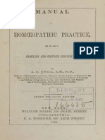 Manual of Homoeopathic Practice - For the Use of Families and Private Individuals