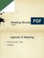 Meeting Minutes 20/09/16