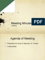 Meeting Minutes 27/09/16