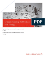 BAIN BRIEF Strategic Planning That Produces Real Strategy
