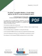 Communiqué de France Jamet - Mme Delga Arrache Le Micro d'Un Élu FN