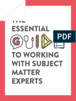 The Essential Guide to Working With Subject Matter Experts