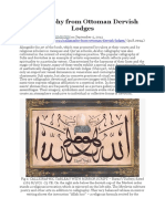 Calligraphy From Ottoman Dervish Lodges