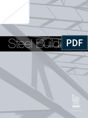 STEEL BUILDINGS BCSA | Welding | Specification (Technical Standard)