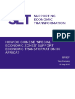 How Chinese SEZs Support Economic Transformation in Africa