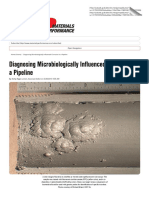 Diagnosing Microbiologically Influenced Corrosion in a Pipeline