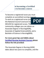 Easy Steps in Becoming a Certified Nurse
