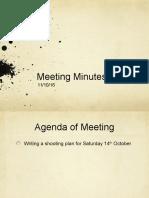 Meeting Minutes 11/10/16