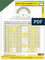 FtA2-Dimensions Des Brides Et Plaques Pleines PN10!16!25-VP