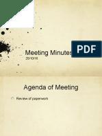 Meeting Minutes 25/10/16