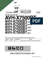 Pioneer Avh-x7500bt Avh-x7550bt Crt5331