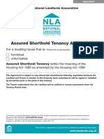 NLA Assured Shorthold Tenancy Agreement