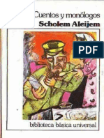 Cuentos y Monologos - Scholem Aleijem
