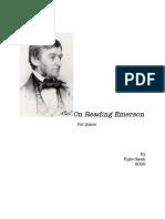 Gann, Kyle - On Reading Emerson
