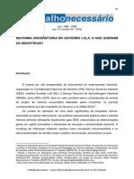 Seki, A. K. & Evangelista, O. Reforma Universitária No Governo Lula - o Que Queriam Os Industriais