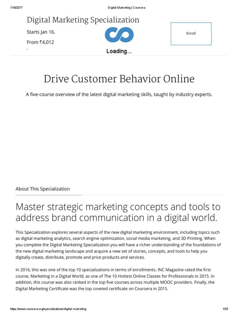 Digital Marketing Analytics Master Of Business Administration