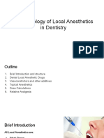 Pharmacology of Local Anesthetic in Dentistry