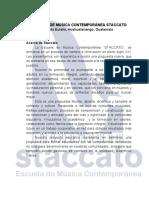 InformaciónGeneralStaccato