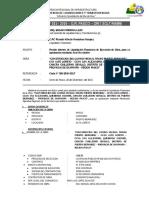 INFORME N°021-2016 Liquidacion camino vecinal ALTO LORETO