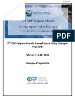 ORF Kalpana Chawla Annual Space Policy Dialogue