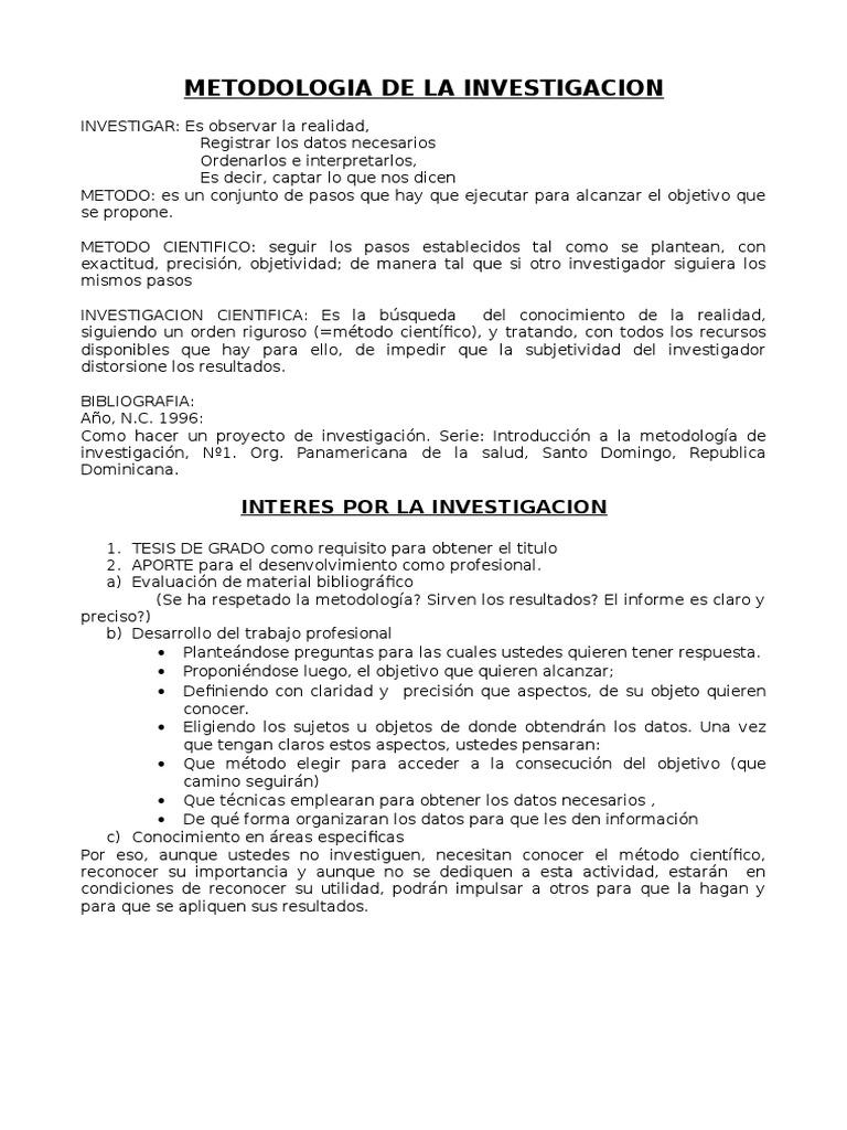 Texto Metodologia De La Investigacion Texto Hipótesis Leche