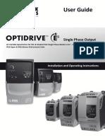 Invertek Optidrive E2 Single Phase Manual