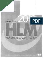 Annexe 1 Selection HLM 2013 Des Produits