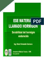 Durabilidad Del Hormigón Endurecido - Ing Carrasco