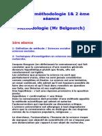 Cours de Méthodologie 1 Agadir